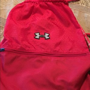 Red Under Armour Back Pack